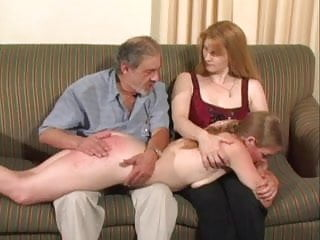 Girl younger after gets spanked spanks and sister