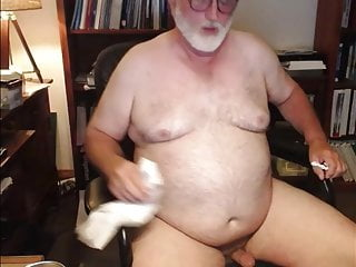 Daddy cleaning his cum...