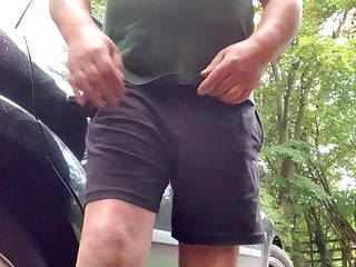 Peeing my pants and wanking on the roadside