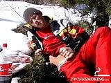Roma raises body temp by waking uncut penis in snowfield