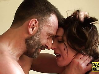 Ass whipped submissive gets roughly fucked