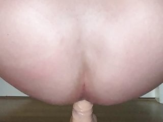 Dildo ass fuck with butt plug DP