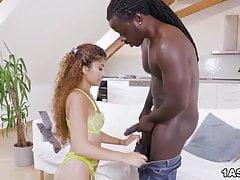 Interracial pounding for exotic Marina Maya