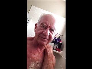 Grandpa shower time...