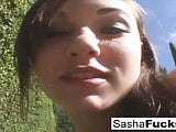 Porn legend sasha grey takes the cock deep her throat and