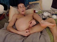 Horny bald nymphomaniac Saffron Azure bangs hungry holes