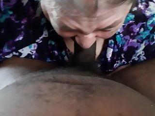 Ssbbw granny gagging and swallowing my bbc...