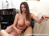 Wifes hot friend needs attention.  Taboo Handjob