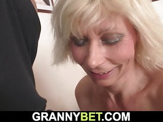mature woman blonde very He hot doggy-fucks