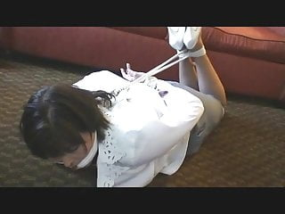 Masked Man Hogties Monica
