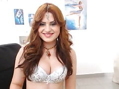 LittleTeenBB Riley yellow saree strip to bra and panties.