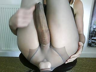 Masturbating and toy in ass...